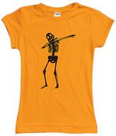 Urban Smalls Orange Dabbing Skeleton Fitted Tee - Toddler & Girls