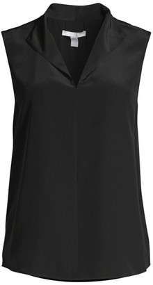 HUGO BOSS Lolisa Silk-Blend Sleeveless Blouse