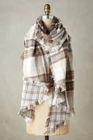Anthropologie Plaid Blanket Scarf