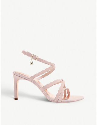 Ted Baker Lillys scallop-strap suede heeled sandals