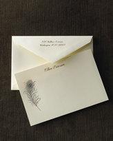 Ecru Peacock Plume Cards & Envelopes