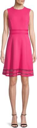 Calvin Klein Sleeveless Fit--Flare Dress