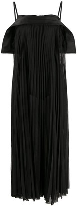 Diesel Black Gold Plisse Maxi Dress