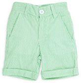 Ruffle Butts® Cuffed Seersucker Short in Green