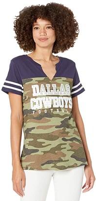 Dallas Cowboys Dallas Cowboys Simone Camo Tee (Camo/Navy) Women's Clothing