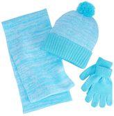 Berkshire Girls 4-16 3-pc. Marled Infinity Scarf, Hat & Gloves Set