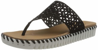 Skechers SEPULVEDA - Larkspur - Smooth Microfiber Fabric Upper in a Casual Comfort Fashion Thong Black
