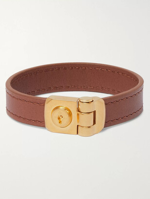 Dunhill Leather and Gold-Tone Bracelet - Men - Brown