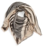 David & Young Stripe Knit Scarf