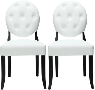 Modway Button Dining Chairs Set