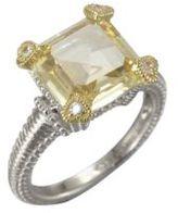 Judith Ripka Crystal & Sterling Silver Ring