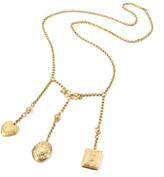 """Ben-Amun Ben Amun Triple Locket Dangle Necklace, 32""""L"""