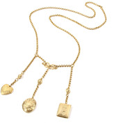 "Thumbnail for your product : Ben-Amun Triple Locket Dangle Necklace, 32""L"