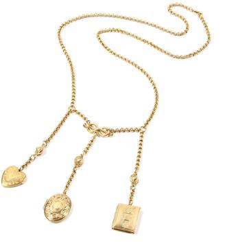 "Ben-Amun Triple Locket Dangle Necklace, 32""L"