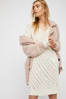 Free People Twisted Reality Sweater Mini Dress