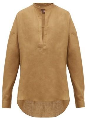 ALBUS LUMEN Alois Dropped-sleeve Linen Shirt - Camel