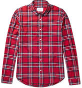 Sandro Checked Cotton-Flannel Shirt