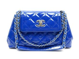 Chanel Blue Patent leather Handbags