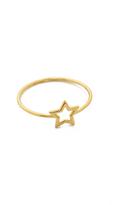 Aurelie Bidermann Fine Jewelry Thin Gold Star Ring