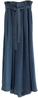 Carolina K. Blue Linen Trousers for Women