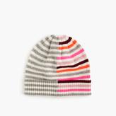 J.Crew Mixed-stripe merino wool beanie hat