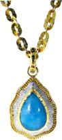 VICTOR VELYAN Cabochon Paraiba And Diamond Pendant