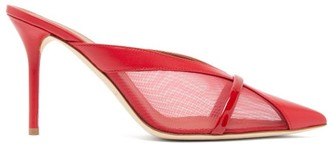 Malone Souliers Bobbi Panelled-mesh Leather Mules - Womens - Red