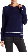 Michael Stars Stripe Layer Crew Neck Sweater