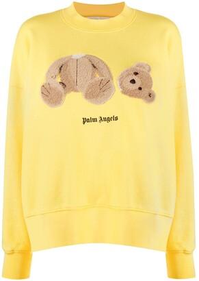Palm Angels Teddy-Motif Logo Sweatshirt