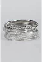 Mixed Silver Bangle Set