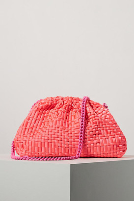 Maria La Rosa Game Woven Clutch By in Blue