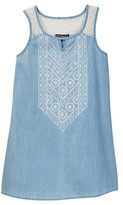 My Michelle mymichelle Sleeveless Embroidered Denim Dress (Big Girls)