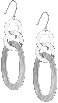 Ippolita Classico Sterling Silver Hammered Roma Link Mixed-Shape Drop Earrings