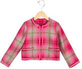 Oscar de la Renta Girls' Plaid Wool Jacket w/ Tags