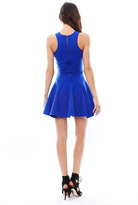 Mason by Michelle Mason Flare Tank Dress with Leather Obi Belt - SINGER22 EXCLUSIVE in Cobalt/Black