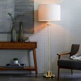 west elm Acrylic Column Floor Lamp - Antique Brass