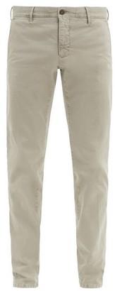 Incotex Slim-fit Stretch-cotton Blend Trousers - Grey