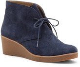 Sole Society Junes suede wedge bootie