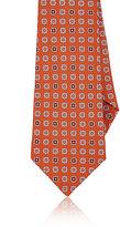 Kiton Men's Floral-Medallion Silk Necktie-ORANGE