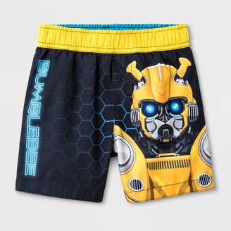 Bumble Bee DC Comics Toddler Boys' DC Comics Bumblebee Swim Trunks - Black 2T