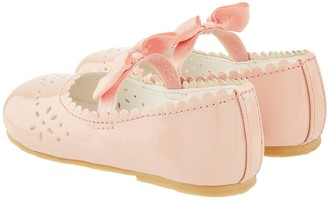 Monsoon Baby Girls Paisley Patent Walker Shoes - Pale Pink