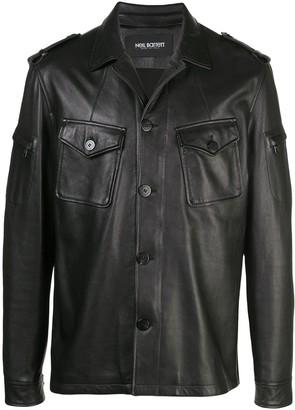 Neil Barrett nappa shirt jacket