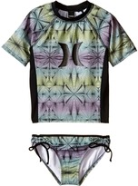 Hurley Fine Lines Surf Shirt Set (Little Kids)