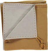 CAMOMILE LONDON Hand Embroidered Two-Toned Swaddle\/Light Blanket