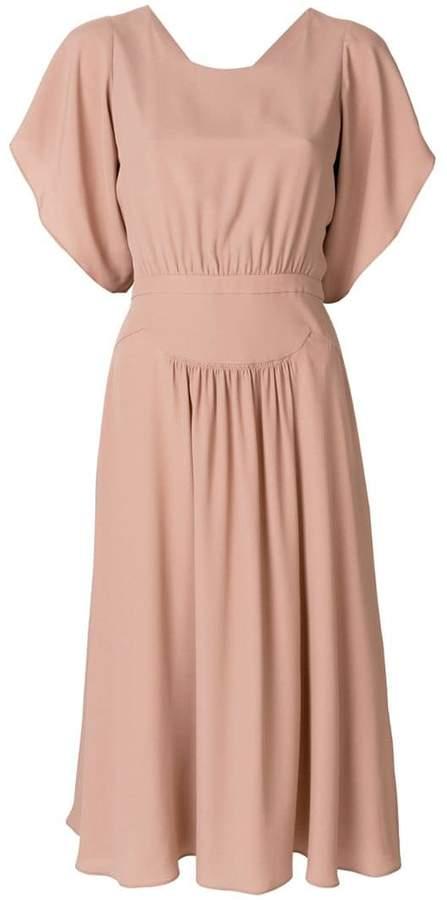 No.21 open back midi dress