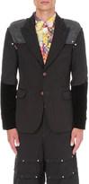 Comme des Garcons Armour-panel jacquard jacket