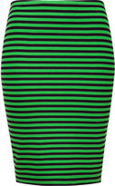 Bailey 44 Navy/Green Striped Stocked Skirt