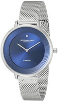Stuhrling Original Women's 589.02 Symphony Diamond-Accented Stainless Steel Watch