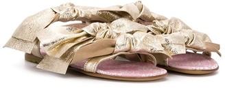 Simonetta Bow Open-Toe Sandals