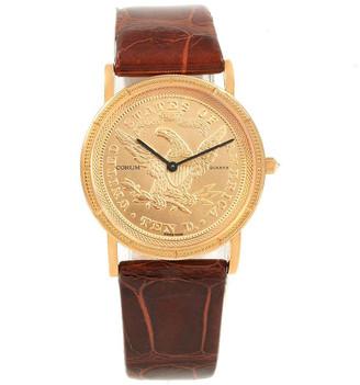 Corum Gold 18K Yellow Gold 10 Dollars Coin Year 1882 Women's Wristwatch 33 MM